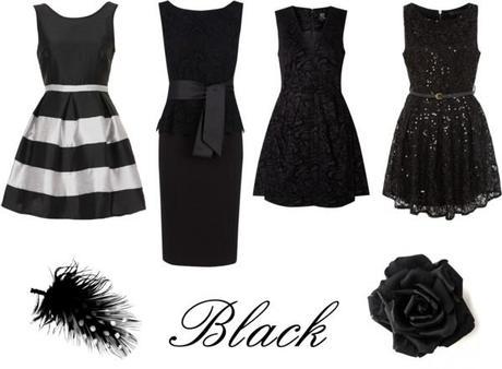 vestidos para las fiestas en negro