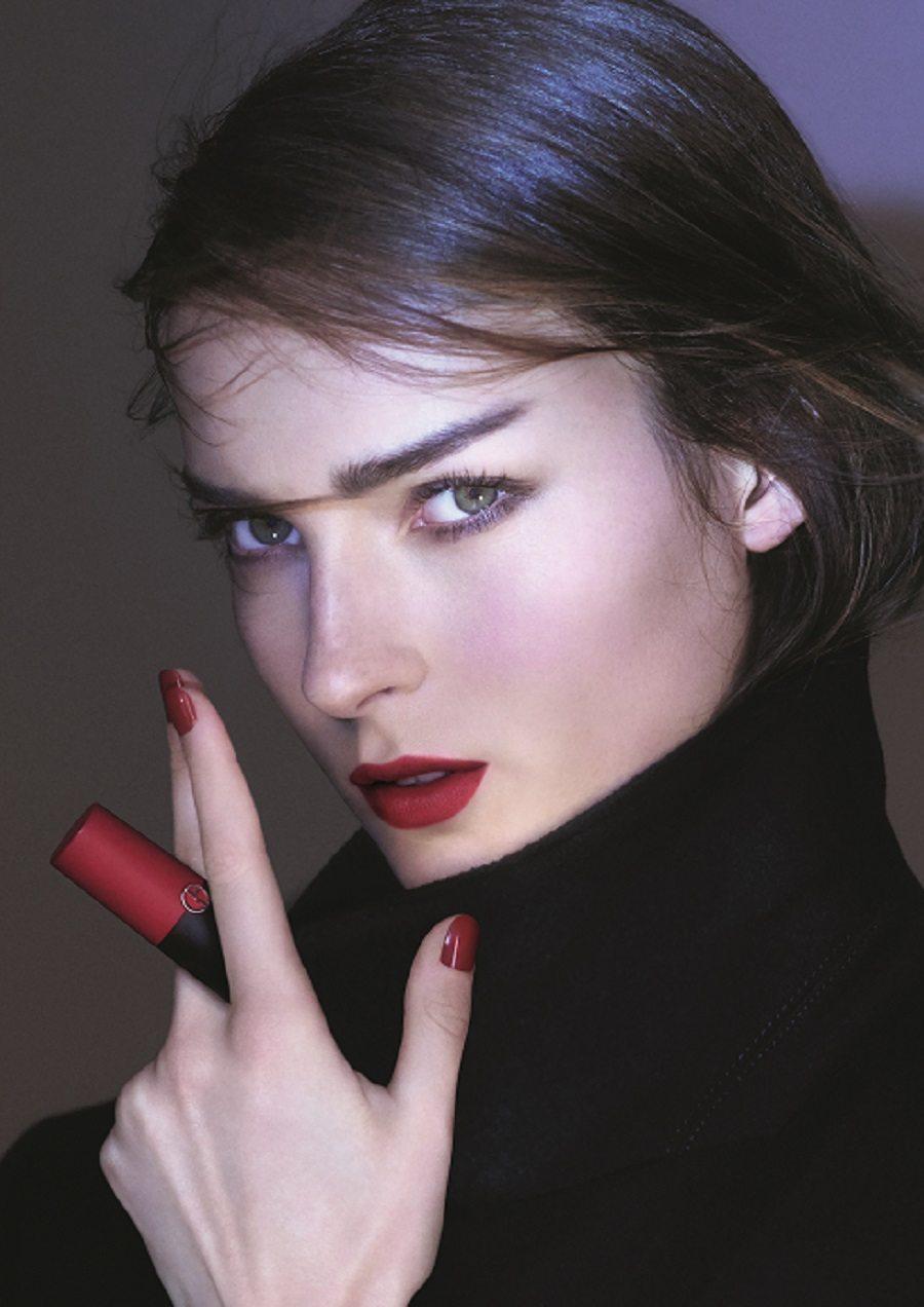 labial rojo Armani
